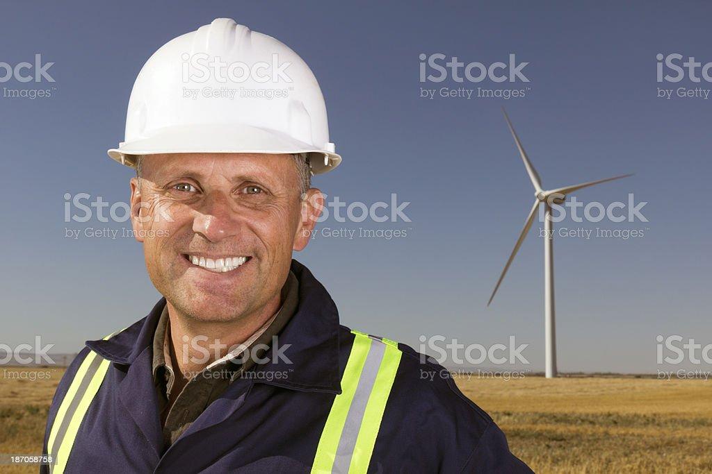 Wind Energy Engineer royalty-free stock photo
