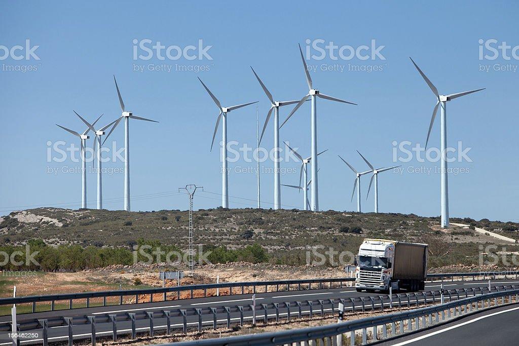 Wind Energy Park royalty-free stock photo