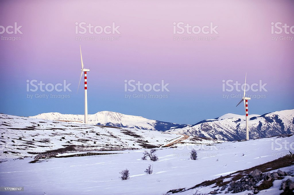 Wind energy Turbine royalty-free stock photo