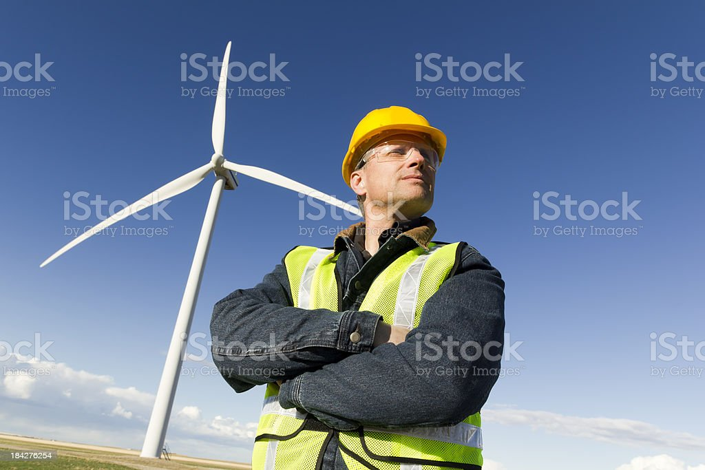 Wind Engineer royalty-free stock photo