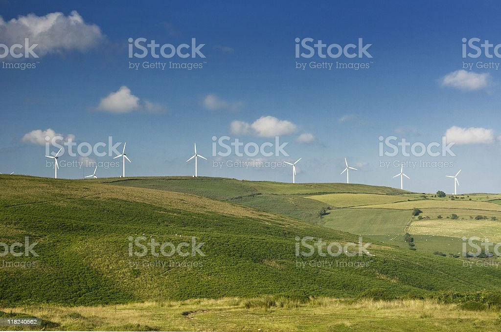 Wind Farm - alternative energy source royalty-free stock photo