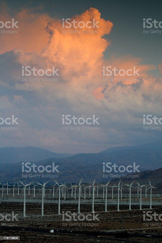 Wind Farm and Thunderheads royalty-free stock photo