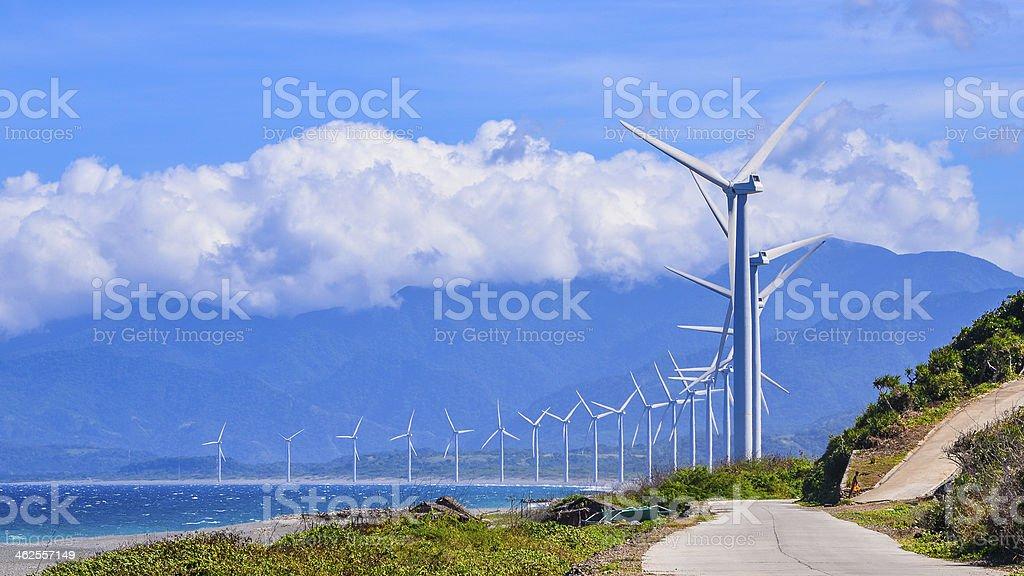 Wind Farm - Bangui, Ilocos Norte, Philippines stock photo