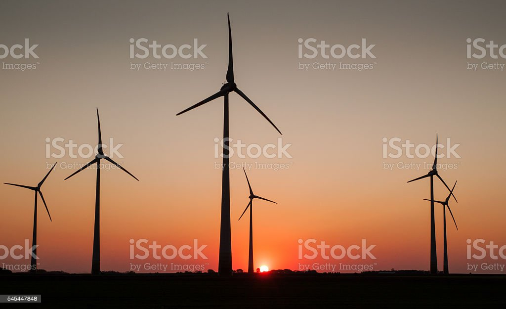 Wind Farm, Cuxhaven, Germany stock photo