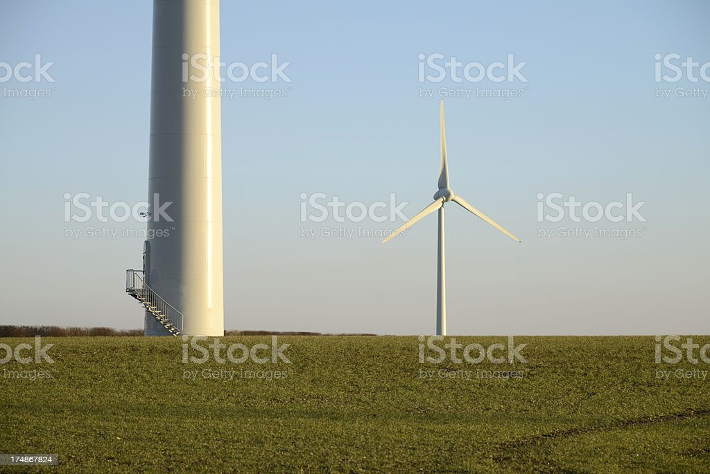 Wind farm energy royalty-free stock photo