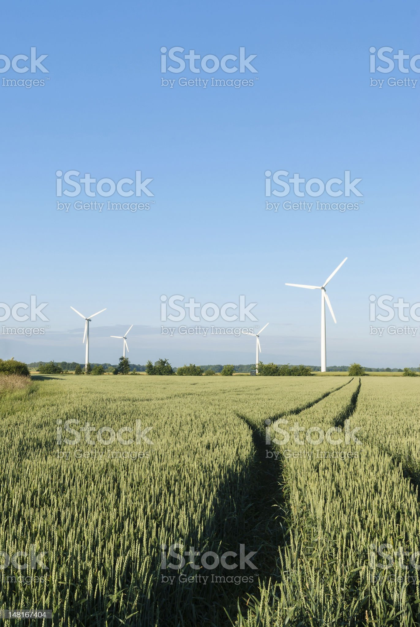 Wind Farm in North Germany royalty-free stock photo