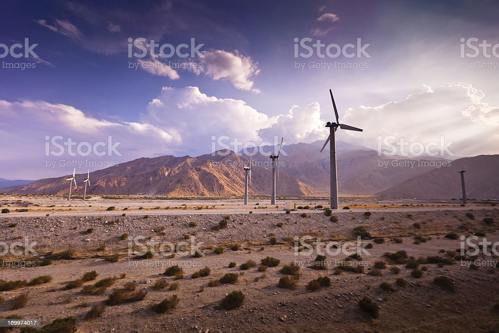 Wind Farm, Palm Springs, California stock photo
