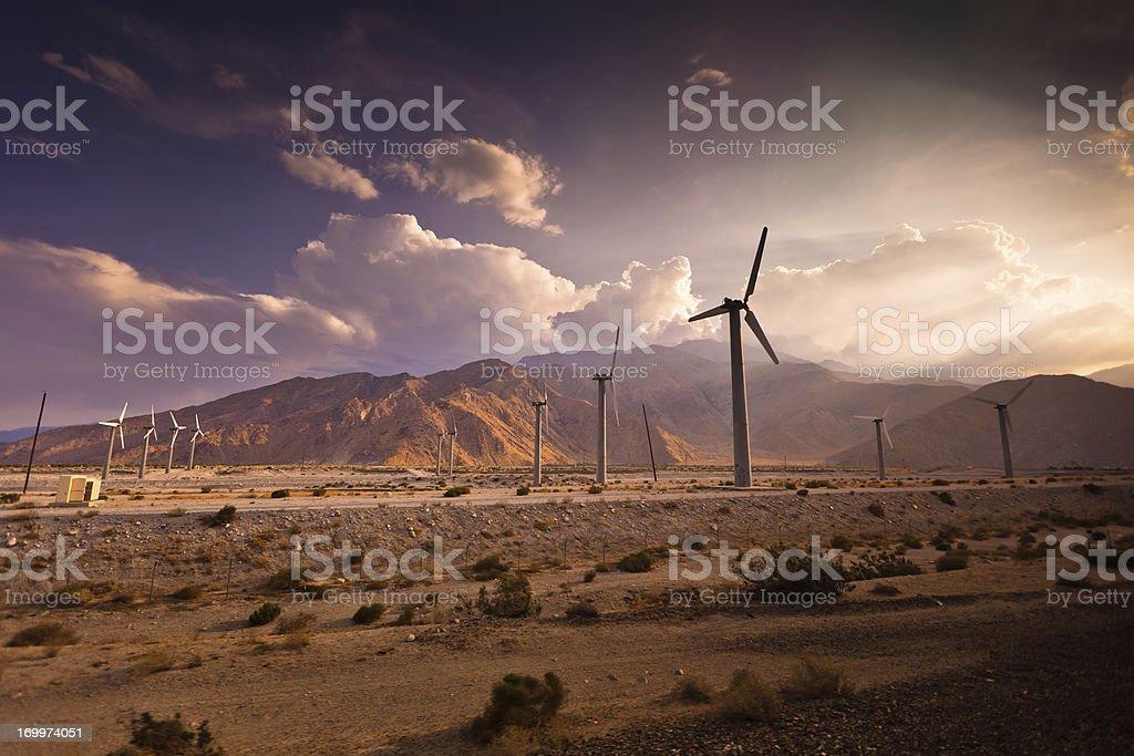 Wind Farm, Palm Springs, California stock photo