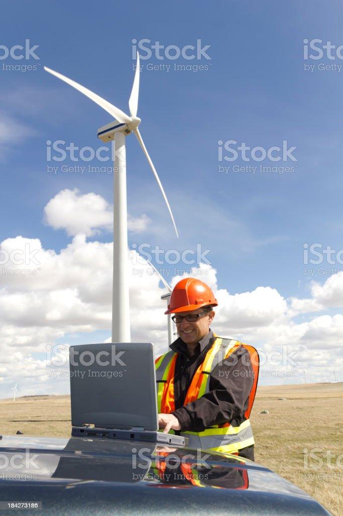 Wind Farm Report stock photo