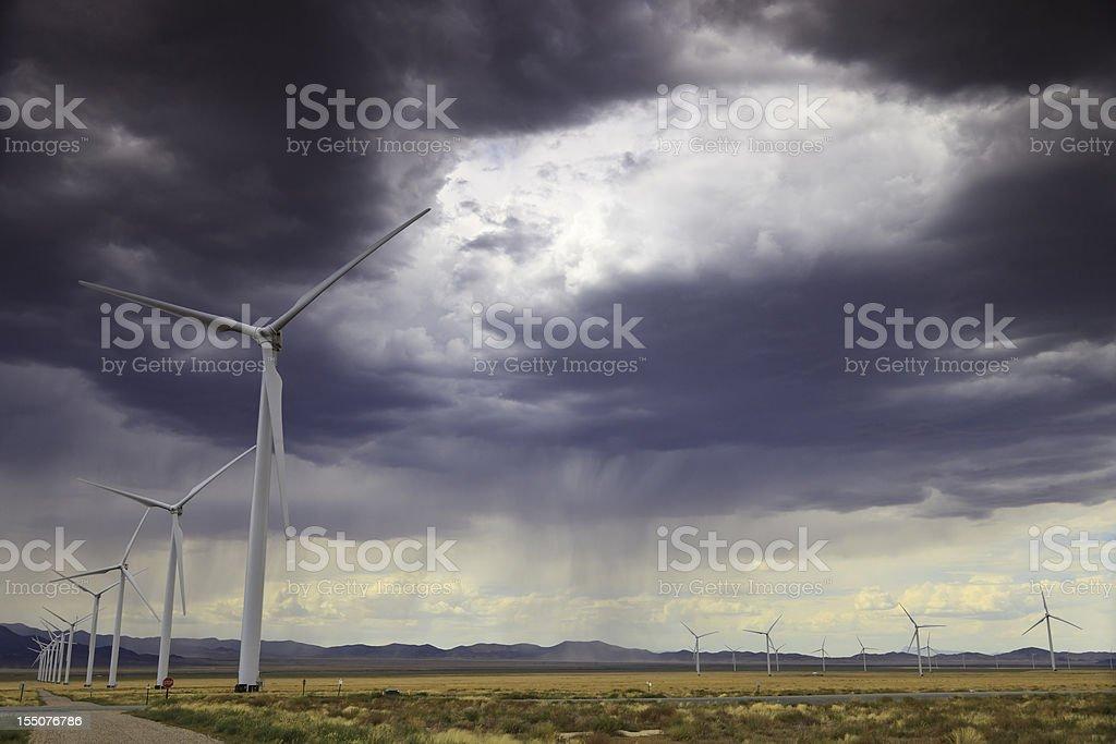 Wind Farm Storm royalty-free stock photo