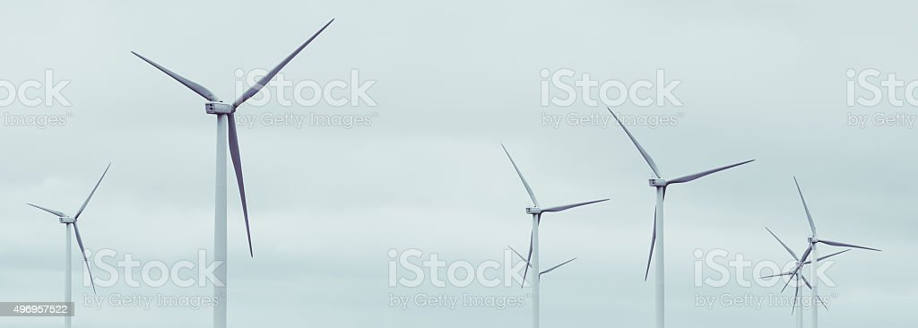 Wind Farming stock photo