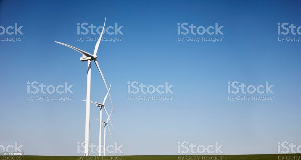Wind generator / wind turbine stock photo