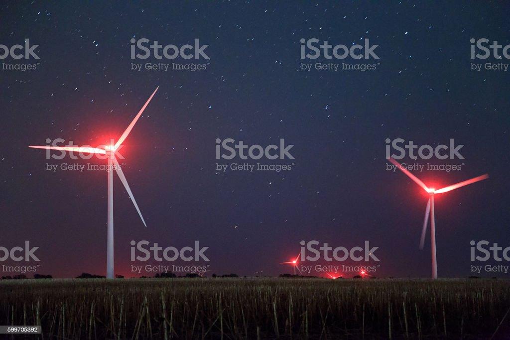 Wind generators stock photo