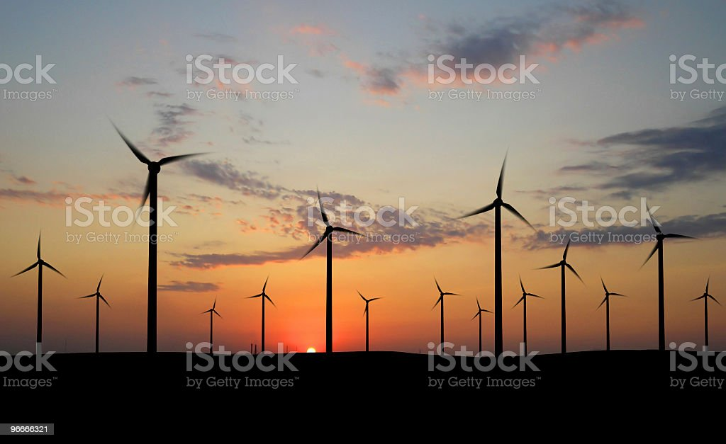 Wind generators royalty-free stock photo