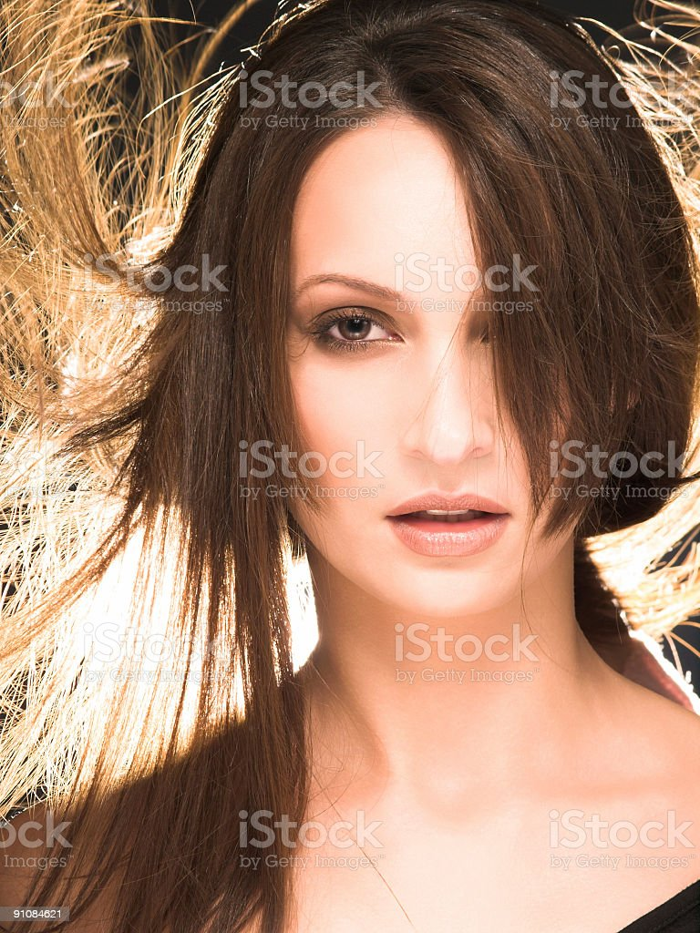 Wind in the hair royalty-free stock photo