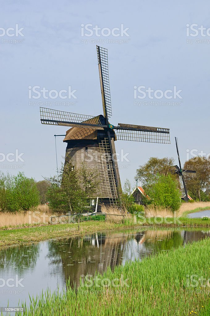 Wind Mill. Vertical view royalty-free stock photo