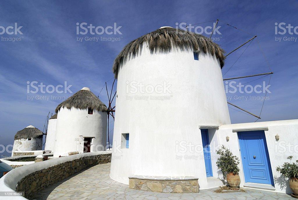 Wind Mills of Mykonos royalty-free stock photo