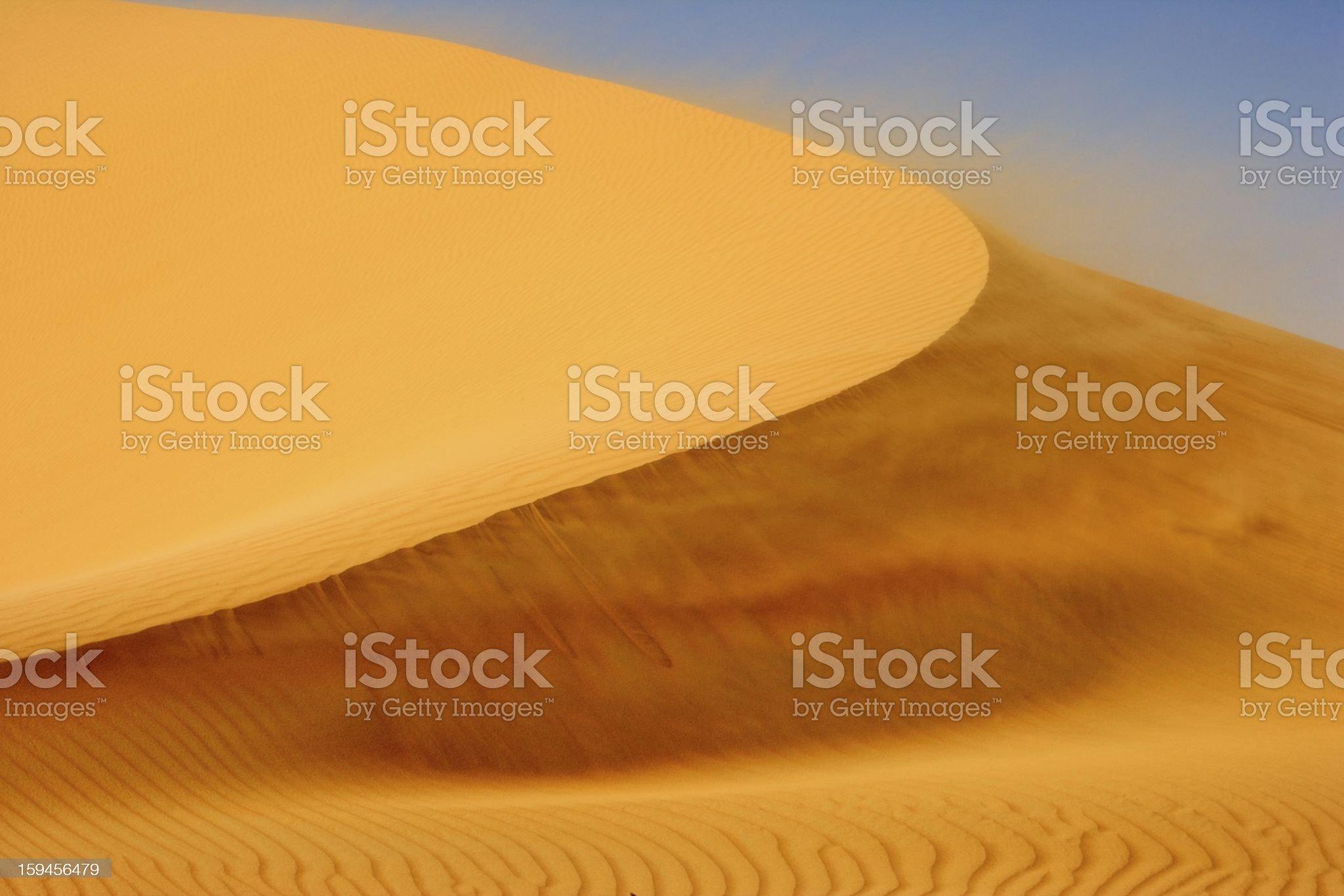 Wind on Dune royalty-free stock photo