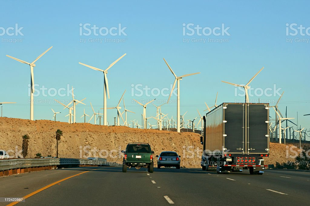 Wind or Gas Power royalty-free stock photo
