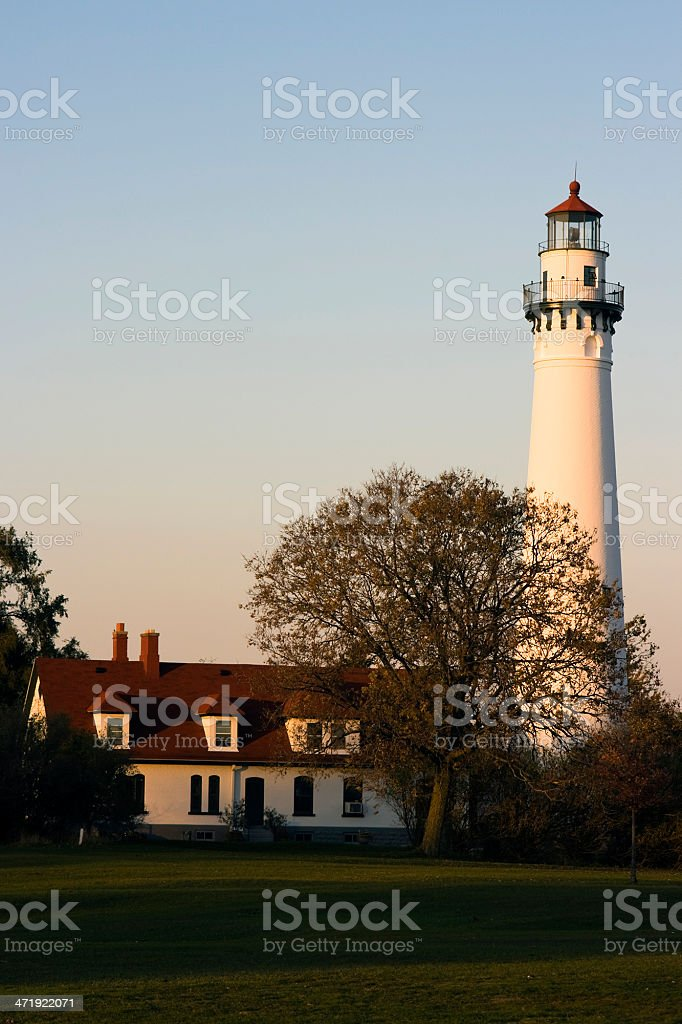 Wind Point Lighthouse stock photo