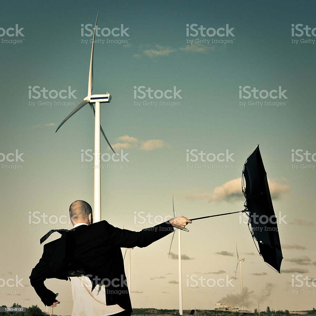 Wind Power Business stock photo