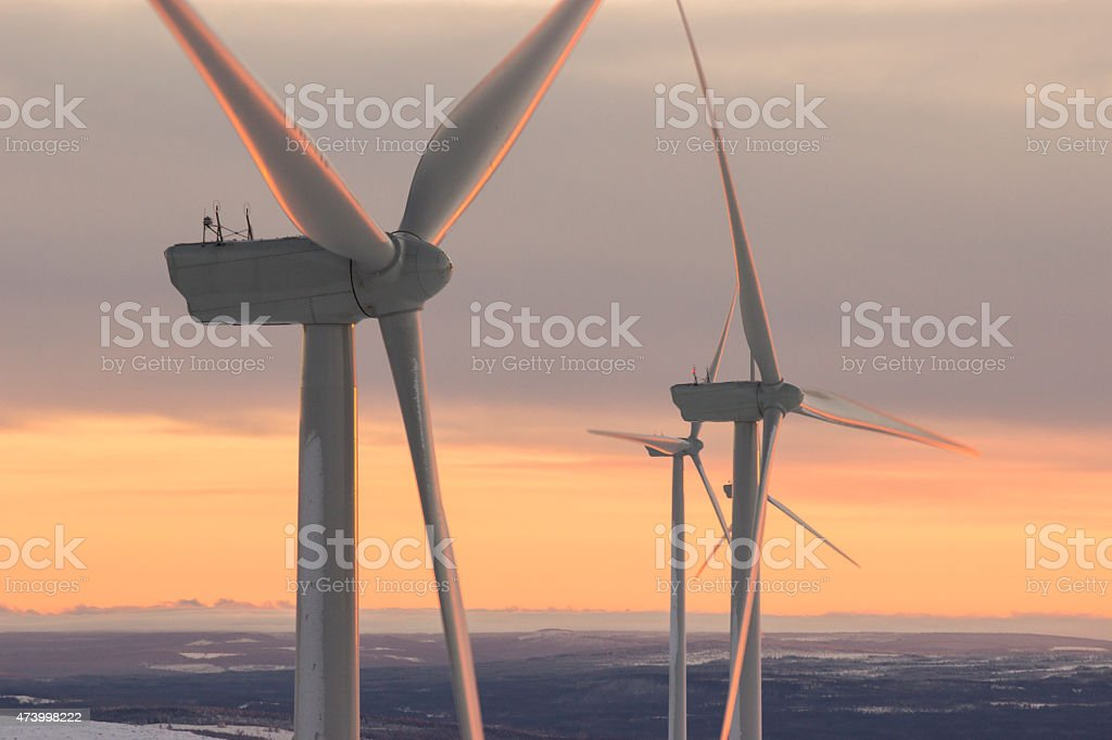 Wind Power - close up view stock photo