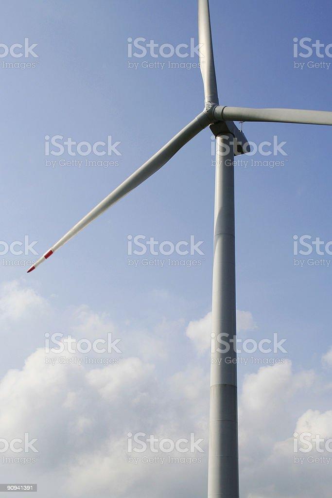 Generador de energía eólica foto de stock libre de derechos