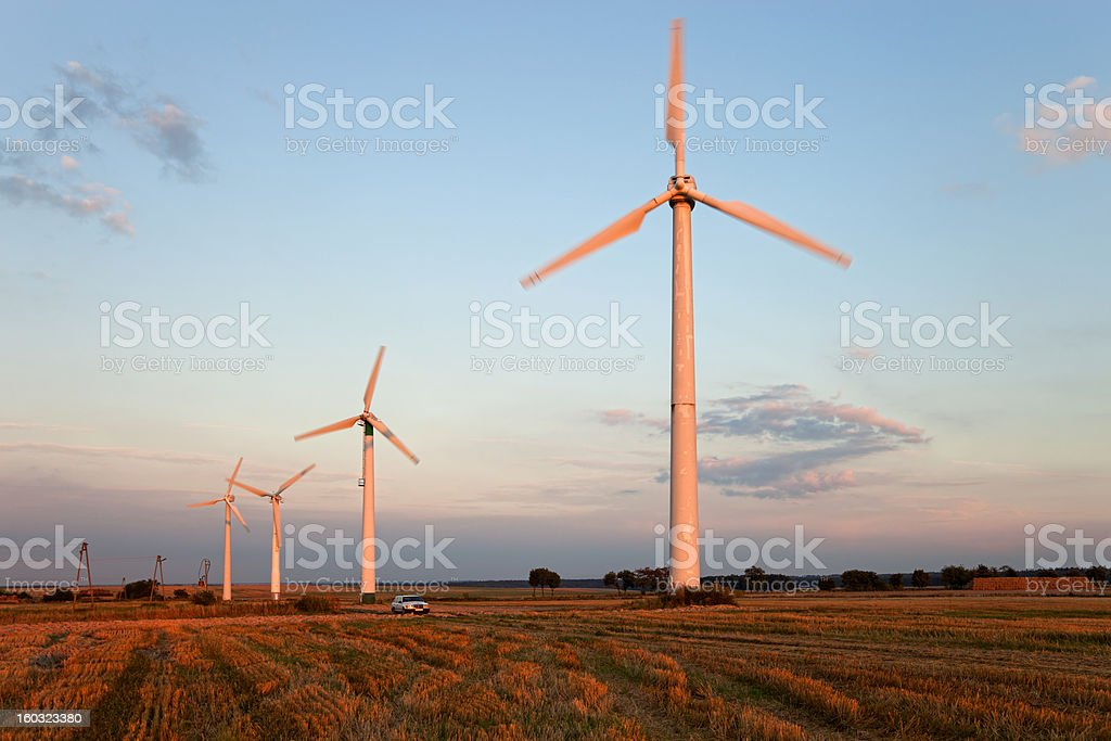Wind power generators royalty-free stock photo