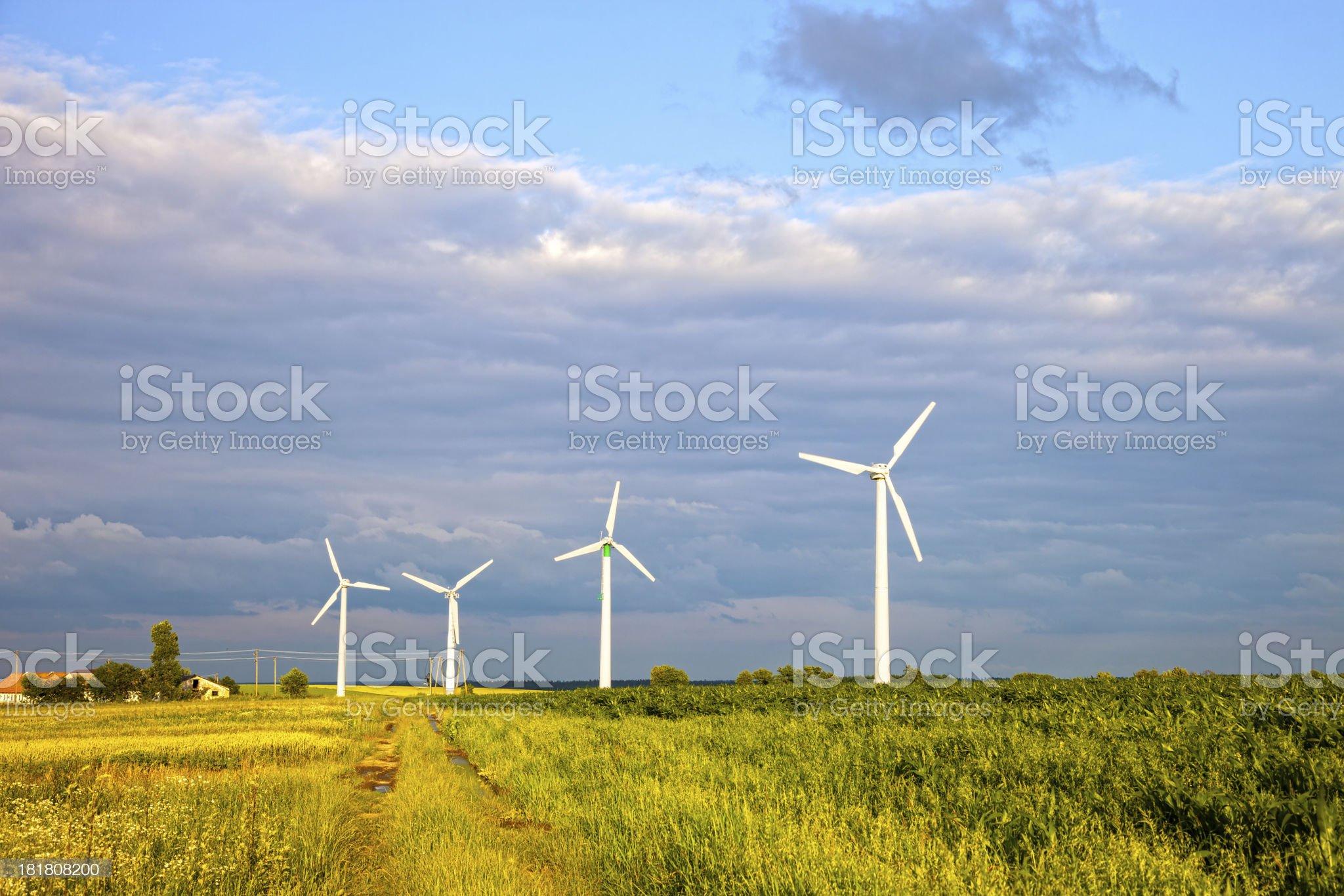 Wind power generators royalty-free stock photo