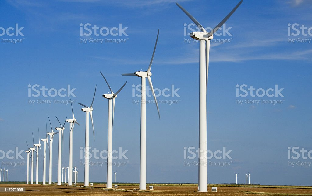 Wind Power in Texas stock photo