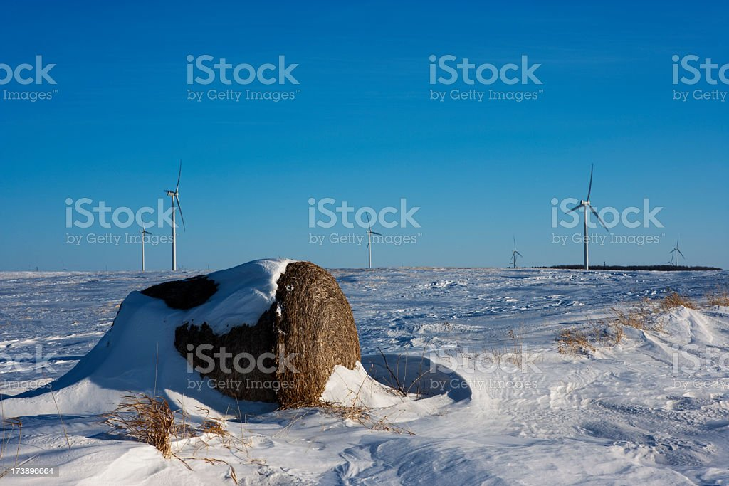 Wind Power manitoba Winter royalty-free stock photo