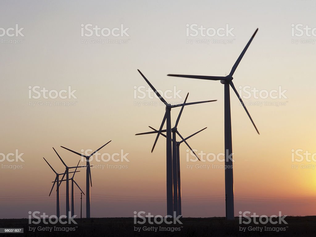 Wind power plant near by Kavarna, Bulgaria, Alternative energy royalty-free stock photo