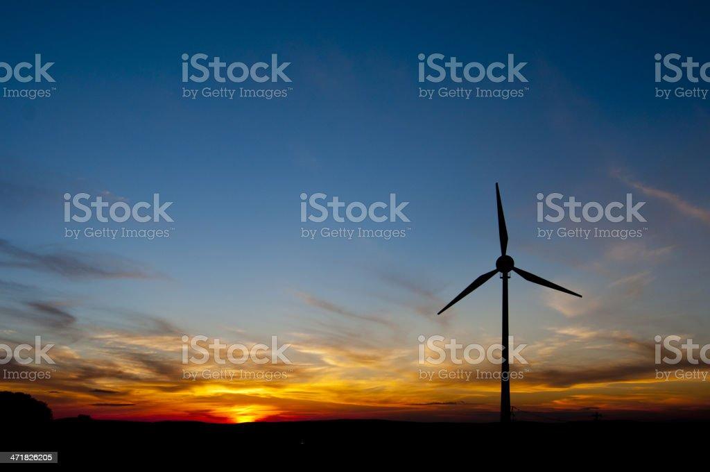 Wind Power - Sunset royalty-free stock photo
