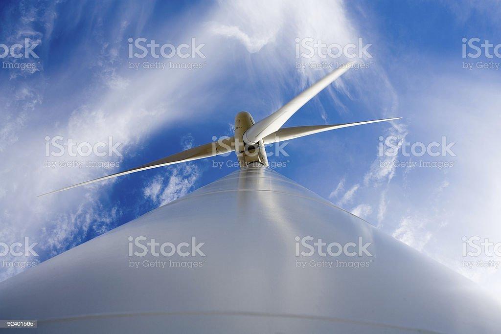 Wind Power Turbine - Low Angle View : Alternative Energy royalty-free stock photo
