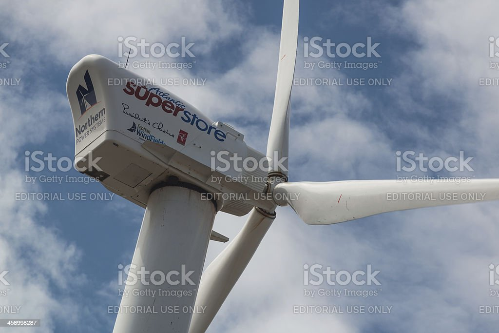 Wind Powered Superstore royalty-free stock photo