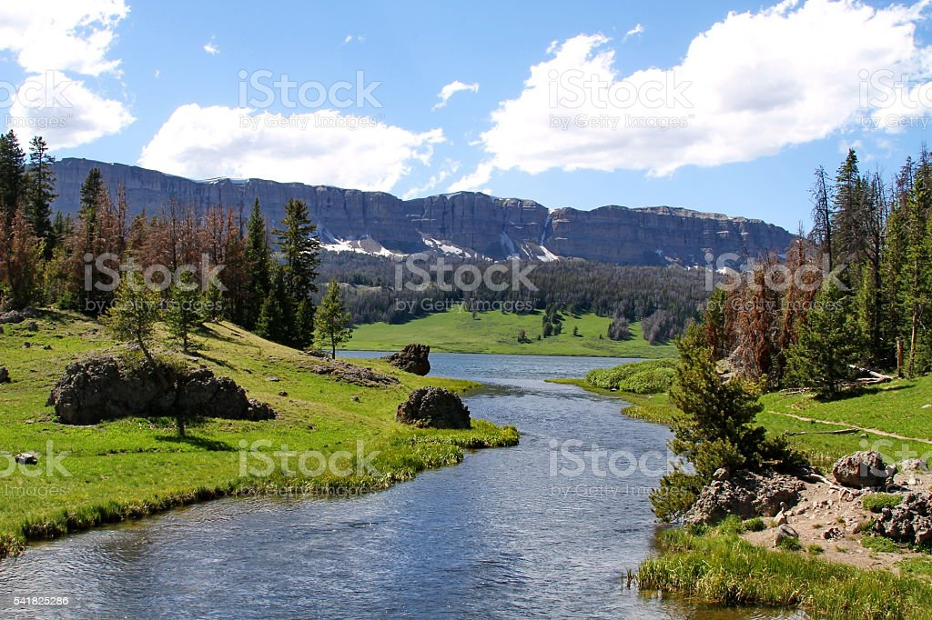 Wind River Valley stock photo