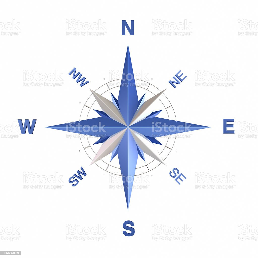 Wind rose royalty-free stock photo
