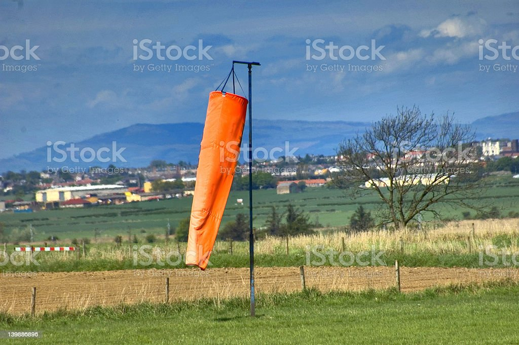Wind Sock at Microlight Airfield royalty-free stock photo