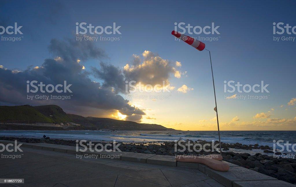 Wind Sock, Las Palmas de Gran Canaria stock photo