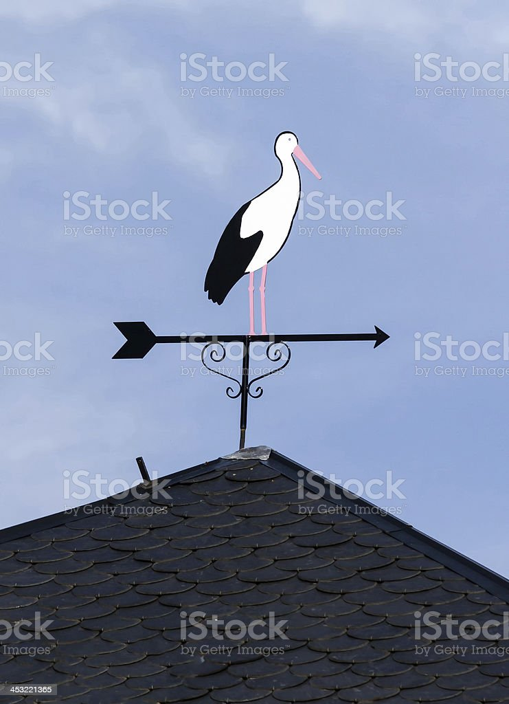 Wind stork royalty-free stock photo
