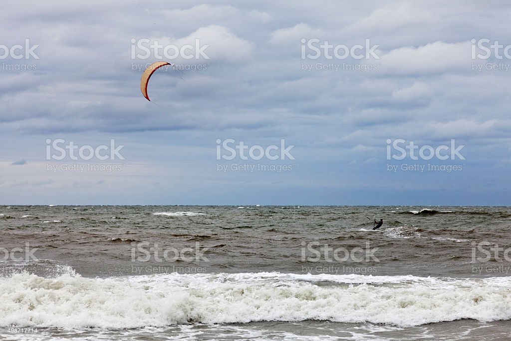 Wind Surfing on a Blustery Day stock photo