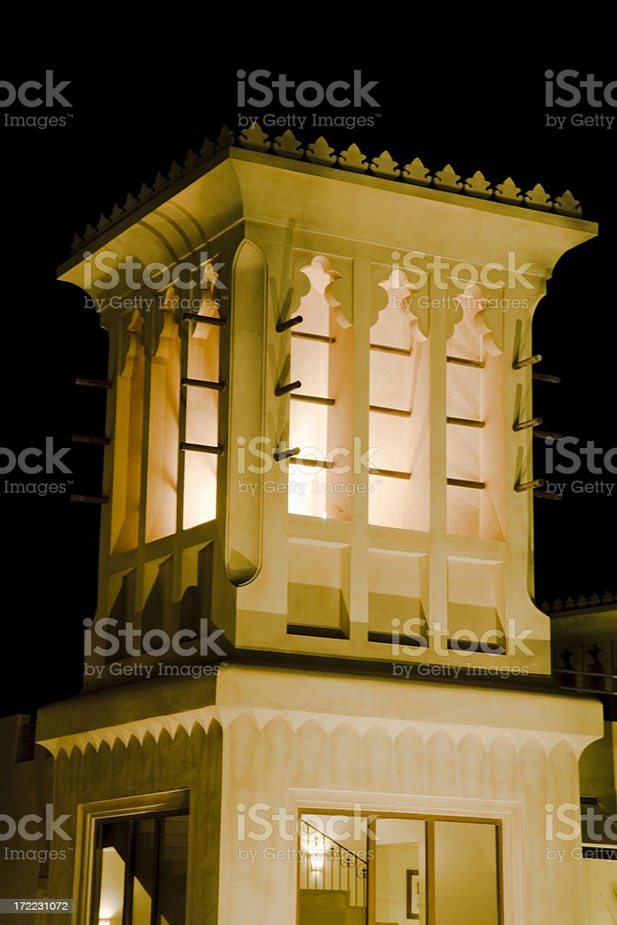 Wind Tower Arabian Architecture royalty-free stock photo