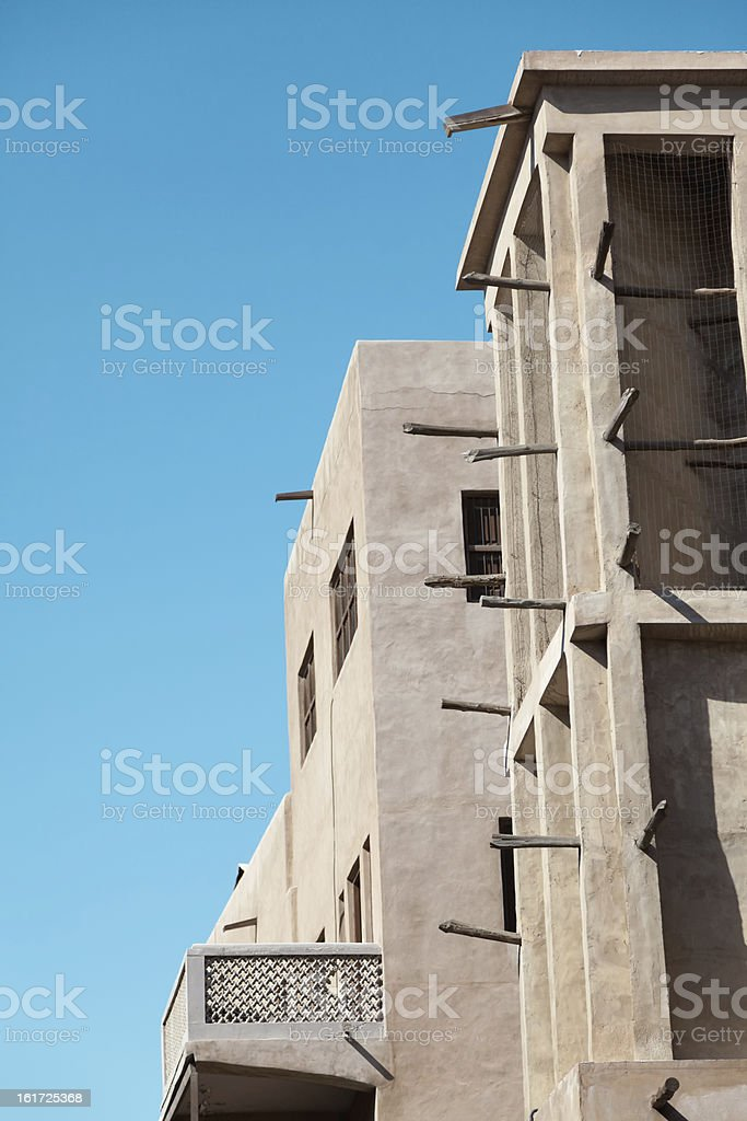 Wind towers in Dubai royalty-free stock photo