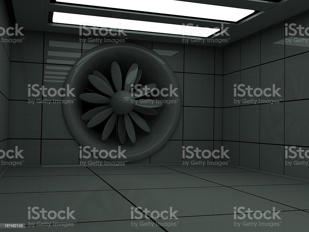 wind (aerodynamical) tunnel stock photo