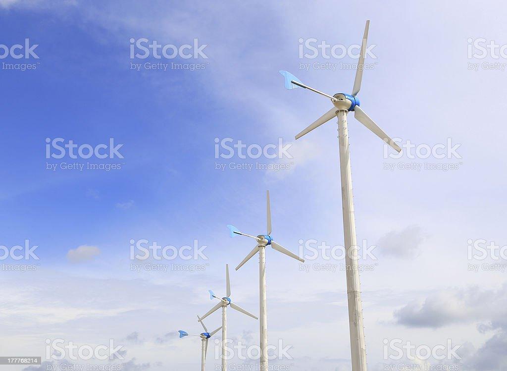 Wind turbin royalty-free stock photo
