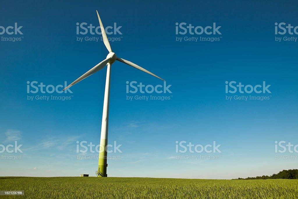 Wind Turbine - alternative and green energy source royalty-free stock photo