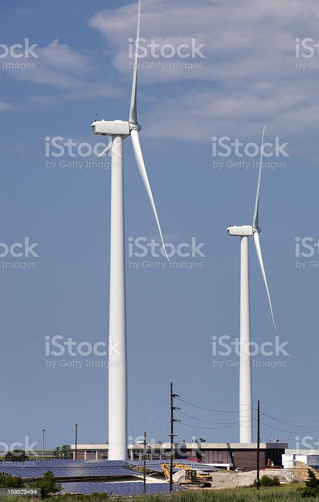 Wind Turbine and Solar Panels royalty-free stock photo