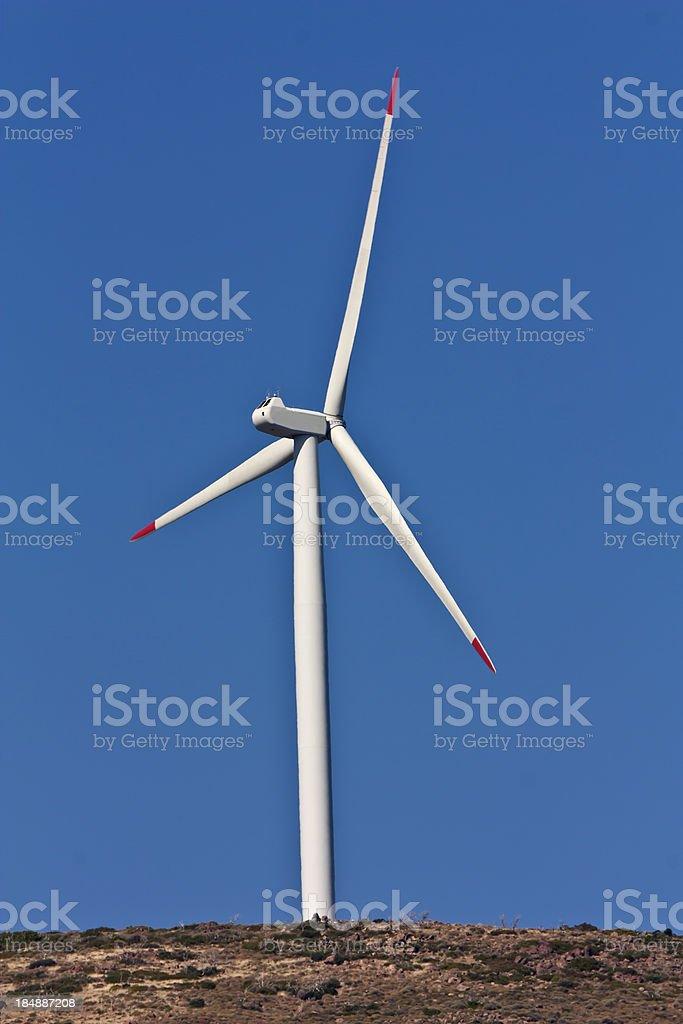 wind turbine, architecture of building exterior stock photo