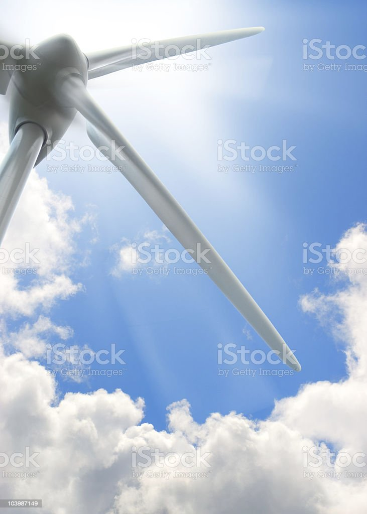 wind turbine background, environment energy royalty-free stock photo