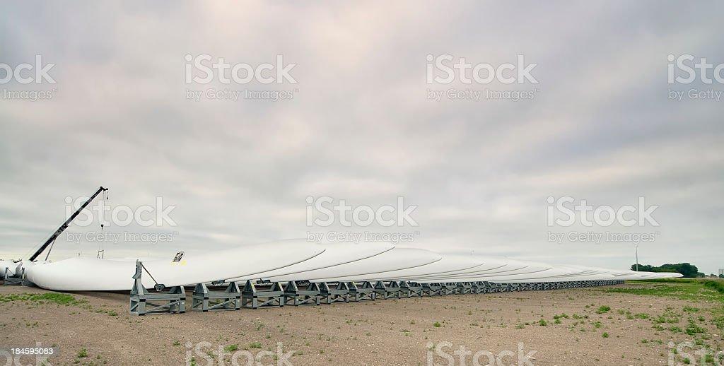 Wind Turbine Blade Array royalty-free stock photo